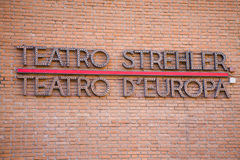 Teatro Strehler, Milan Royalty Free Stock Photography