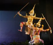 Teatro tailand?s do fantoche fotografia de stock