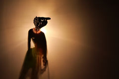 Teatro tailandese tradizionale dell'ombra Fotografia Stock