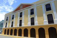 Teatro Tapia in Old San Juan, Puerto Rico. Teatro Tapia aka Teatro Alejandro Tapia y Rivera in Old San Juan, Puerto Rico stock photography