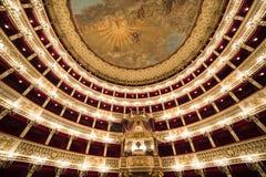 Teatro teatro de la ópera de San Carlo, Nápoles, Italia Imagen de archivo libre de regalías