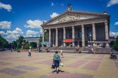 Teatro in Ternopil fotografie stock libere da diritti