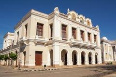 Teatro Terry Tomas nella piazza di Cienfuegos Cuba. The Teatro Terry Tomas nella piazza di Cienfuegos Cuba stock images