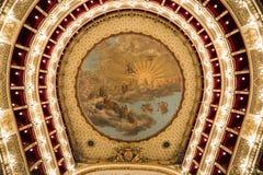 Teatro théatre de l'opéra de San Carlo, Naples, Italie Photo stock