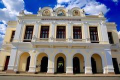 Teatro Tomas特里,西恩富戈斯,古巴 图库摄影
