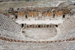 Teatro Turquía de Hierapolis Imágenes de archivo libres de regalías