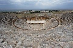 Teatro Turquía de Hierapolis Foto de archivo libre de regalías