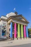 Teatro variopinto della città nel centro di Detmold immagini stock