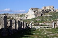Teatro y ruinas Imagen de archivo libre de regalías