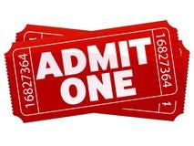 teatrów bilety Zdjęcia Royalty Free