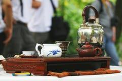 Teauppsättning royaltyfri bild