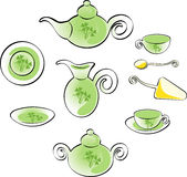 Teaware set Stock Images