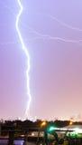 Teaxs-Gewitter-Blitzschlag-elektrische Entladung Dallas Lizenzfreies Stockfoto