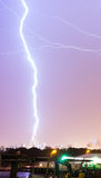 Teaxs Thunderstorm Lightning Strike Electrical Discharge Dallas Royalty Free Stock Photo