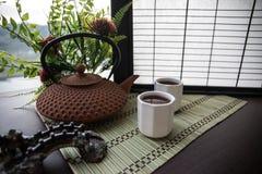 Tebegrepp ?stlig dryck f?r japansk kultur f?r teceremoni E arkivbild