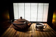 Tebegrepp ?stlig dryck f?r japansk kultur f?r teceremoni E fotografering för bildbyråer