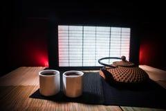 Tebegrepp ?stlig dryck f?r japansk kultur f?r teceremoni E arkivbilder
