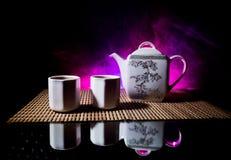 Tebegrepp ?stlig dryck f?r japansk kultur f?r teceremoni E royaltyfria foton