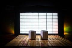 Tebegrepp ?stlig dryck f?r japansk kultur f?r teceremoni E royaltyfri bild
