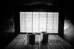Tebegrepp ?stlig dryck f?r japansk kultur f?r teceremoni E royaltyfria bilder