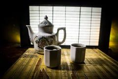 Tebegrepp ?stlig dryck f?r japansk kultur f?r teceremoni E arkivfoto