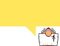 Tebeos de Cartoonish con Santa Imagen de archivo libre de regalías