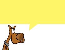 Tebeos de Cartoonish con un perro Fotos de archivo