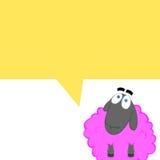 Tebeos de Cartoonish con una oveja rosada Foto de archivo