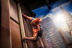 Tebeos de la maravilla del hombre araña en museo de señora Tussauds Wax en Amsterdam, Países Bajos Foto de archivo libre de regalías