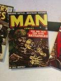 Tebeos del hombre en el objeto expuesto de MoPOP en Seattle fotos de archivo