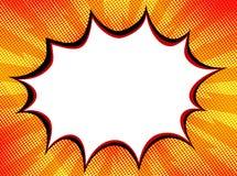 Tebeos retros b de la bandera enrrollada divertida del arte pop de la burbuja del vapor de la explosión stock de ilustración