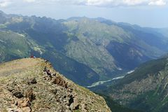 Teberda River Valley, Cáucaso, Rússia Imagem de Stock Royalty Free