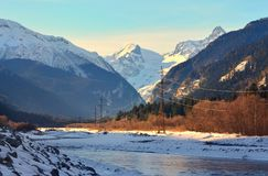 Teberda valley Royalty Free Stock Images