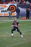 Tebow option. Denver bronco's quarteback Tim Tebow with ball in right hand prepares to pitch ball off during option play against chiefs. Tebow and the broncos royalty free stock photography
