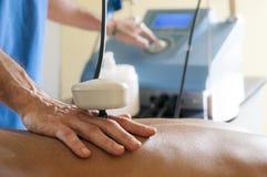 Tecartherapy massage royaltyfri foto