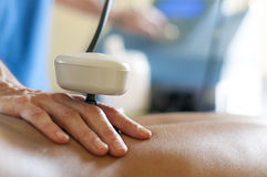 Tecartherapy massage Stock Image
