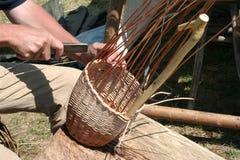 Tecelões da cesta do salgueiro Foto de Stock