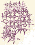 Tecelagem decorativa ilustração royalty free