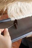 Tecelagem no handloom Fotos de Stock