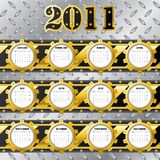 Tech 2011 calendar. Technology calendar for the year 2011 stock illustration