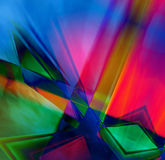 Tech Abstract Background. Powerful colorful abstract design of prisms and shapes for a background good for technology ideas and designs Royalty Free Stock Images