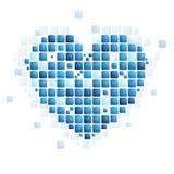 Tech abstract heart shape Royalty Free Stock Photo