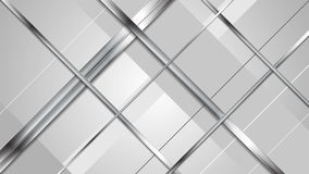 Tech abstract metallic silver stripes video clip
