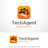Tech Agent Logo Template Design Vector, Emblem, Design Concept, Creative Symbol, Icon Royalty Free Stock Images