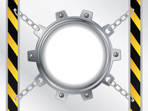 Tech backdrop with chained cogwheel Stock Photos