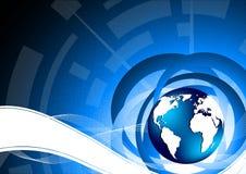 Tech background. Tech blue background; clip-art Stock Photo