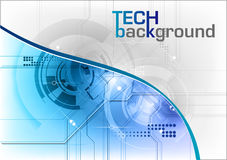 Tech background. In the blue Royalty Free Stock Photography