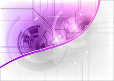 Tech background. In the purple color Royalty Free Stock Image