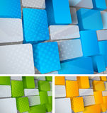 Tech background. Abstract bright tech background with 3d element Stock Images