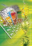 Tech background. Biomedical electronic technology Stock Photos